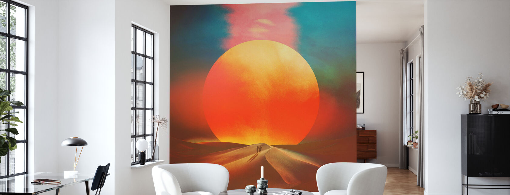 Auringon asettaminen - Tapetti - Olohuone