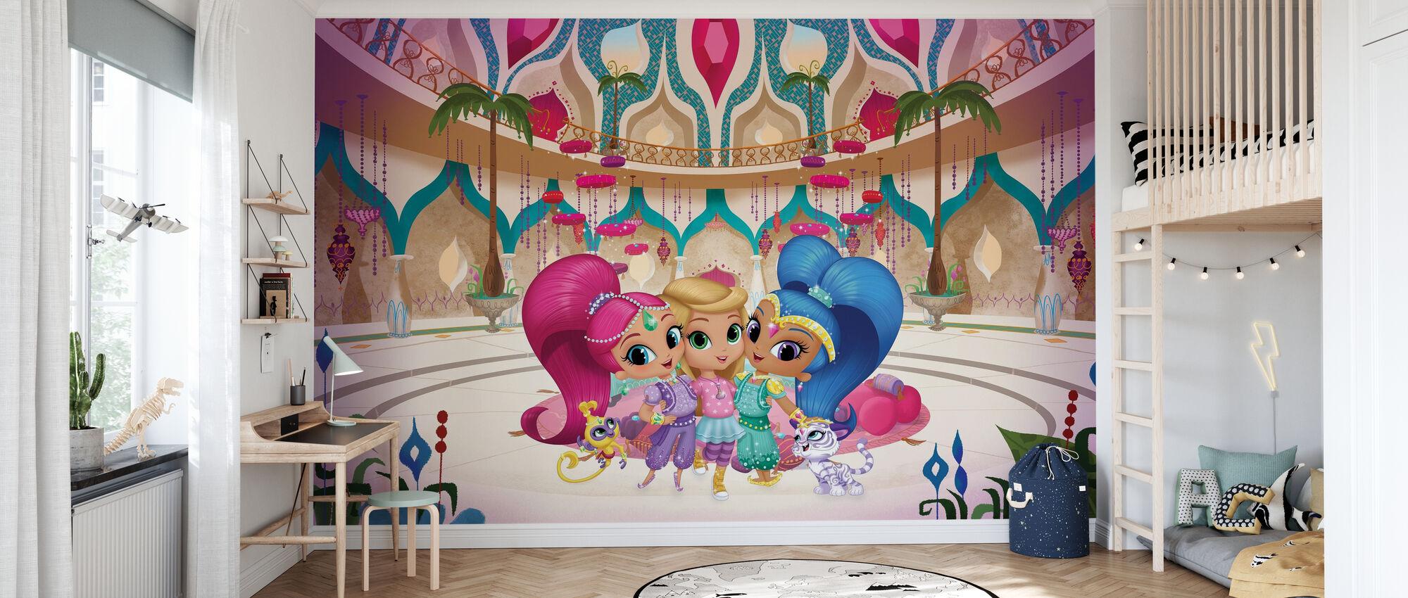 Leah und Ihre Genies - Tapete - Kinderzimmer