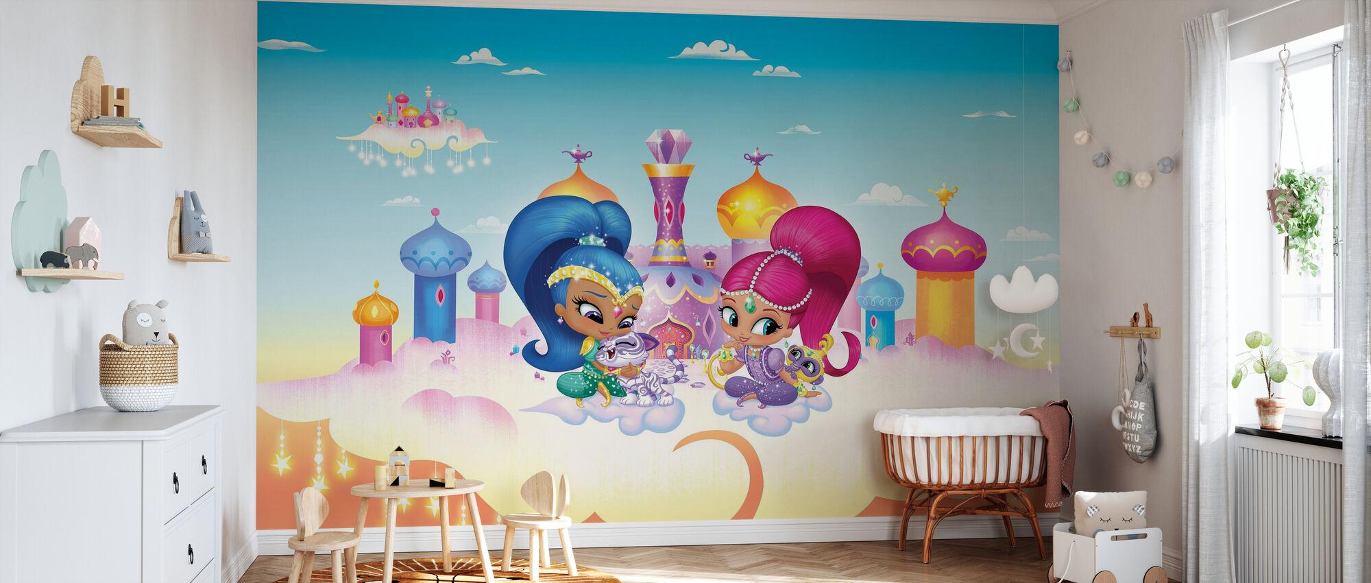Kuscheln im Cloud Palace - Tapete - Babyzimmer