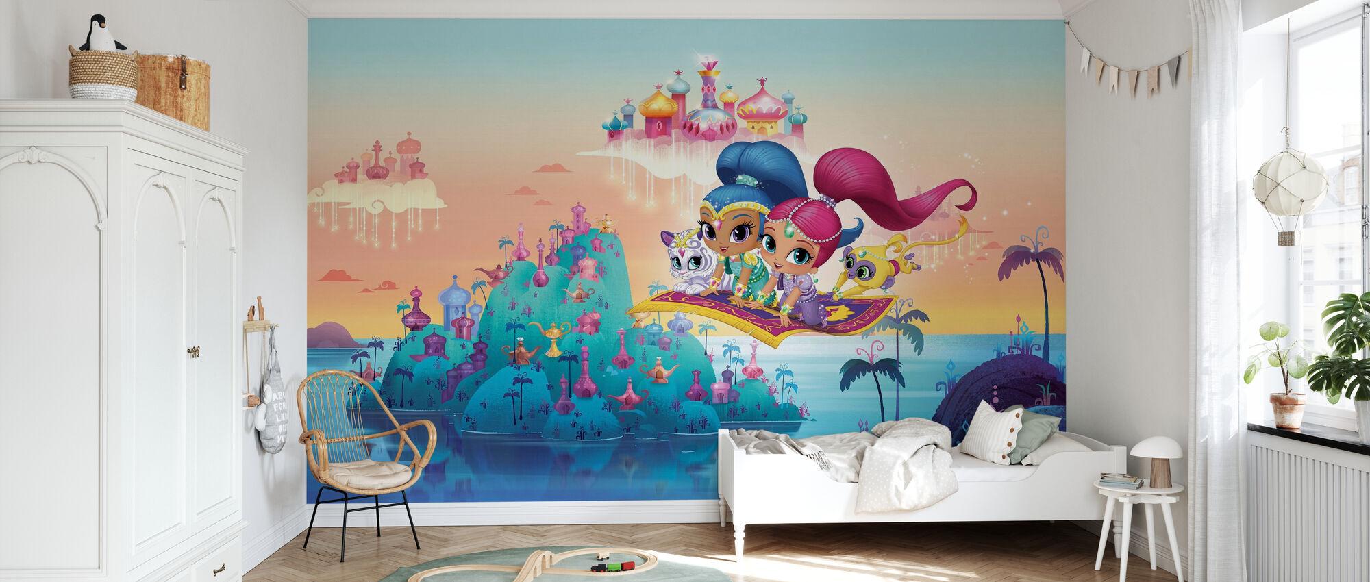 Zauberteppich Flug - Tapete - Kinderzimmer