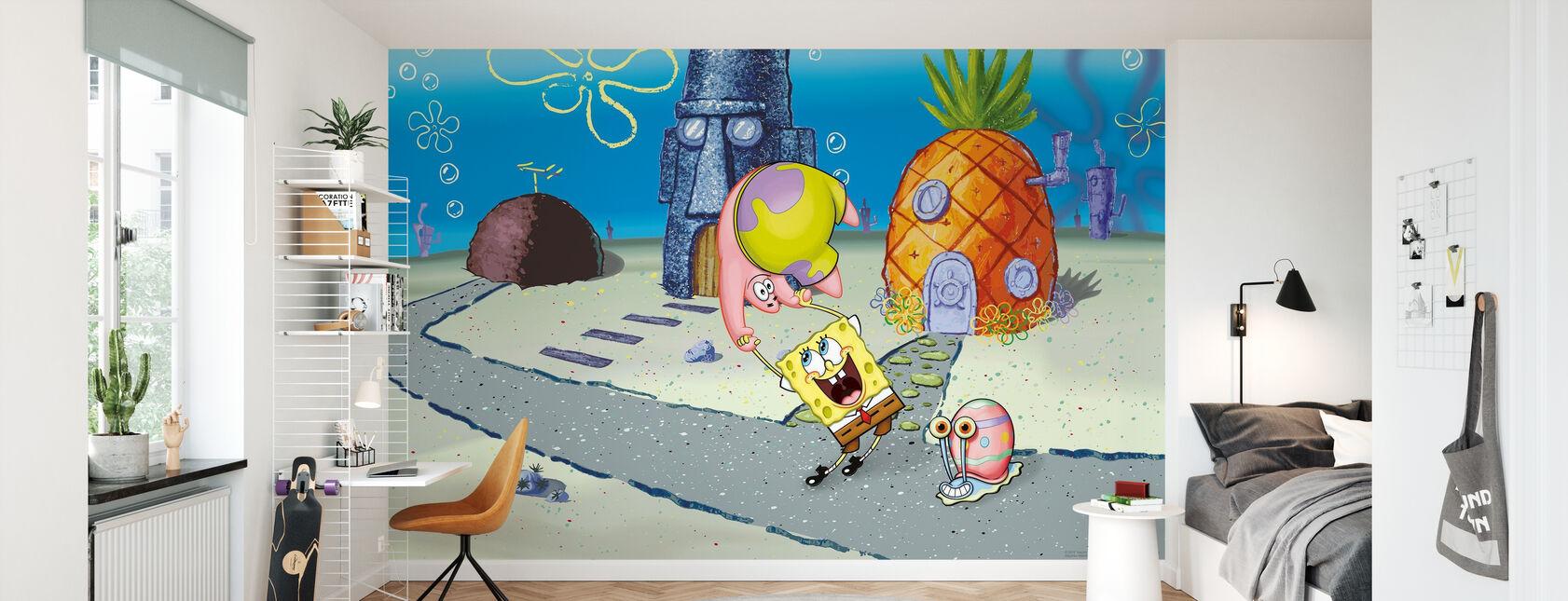 Sponge Bob - Zabawa w Conch Street - Tapeta - Pokój dziecięcy