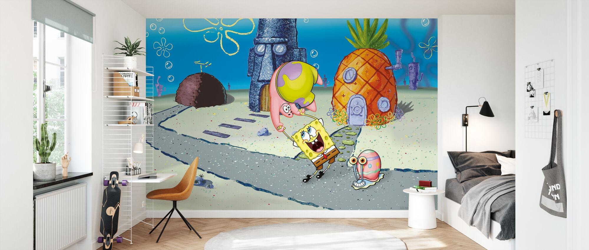 Sponge Bob - Spaß in Conch Street - Tapete - Kinderzimmer
