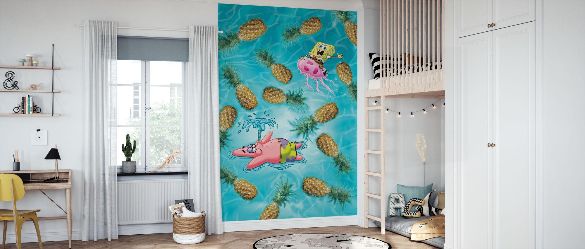 SpongeBob - Ananas Fun - Tapete - Kinderzimmer