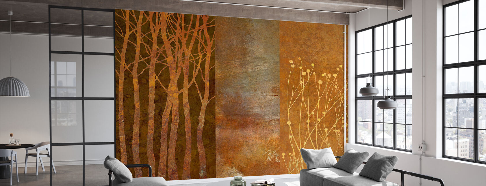 Collage in Copper - Wallpaper - Office