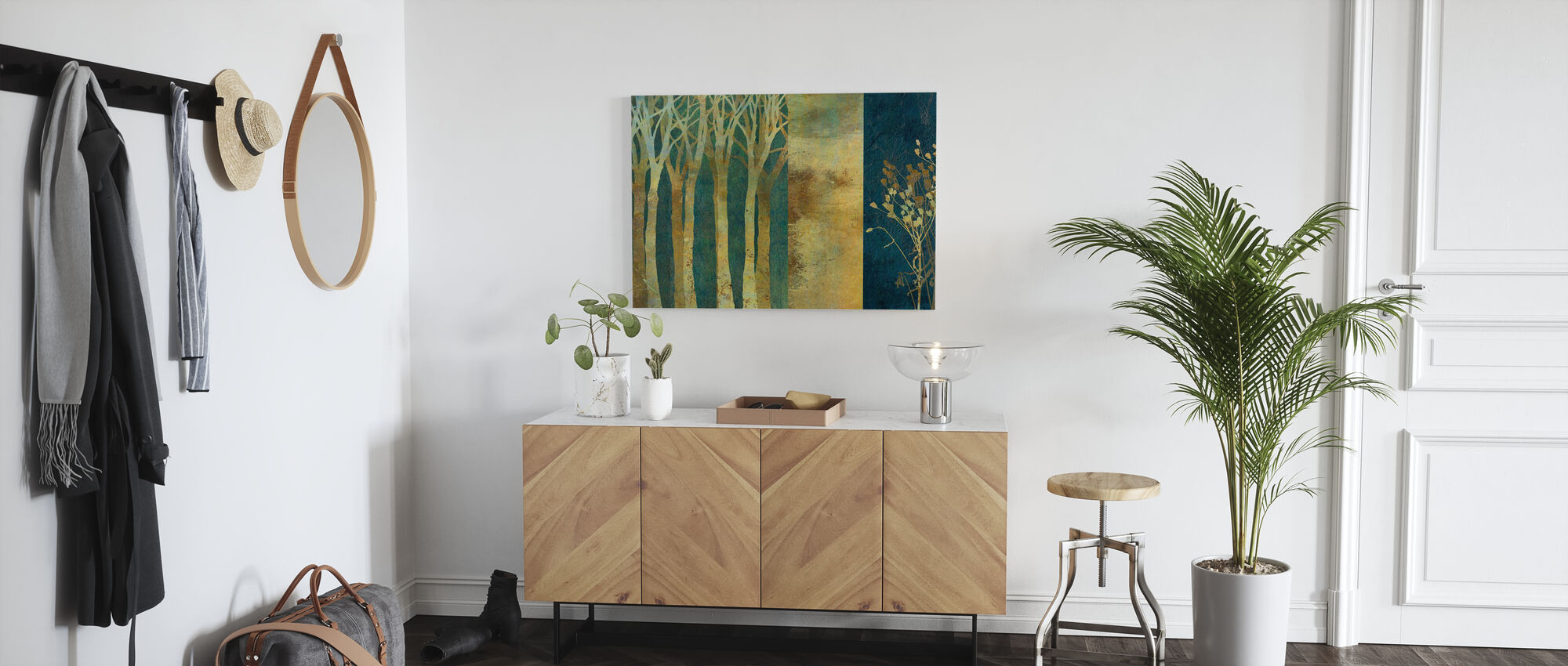 Collage in Gold - Canvas print - Hallway