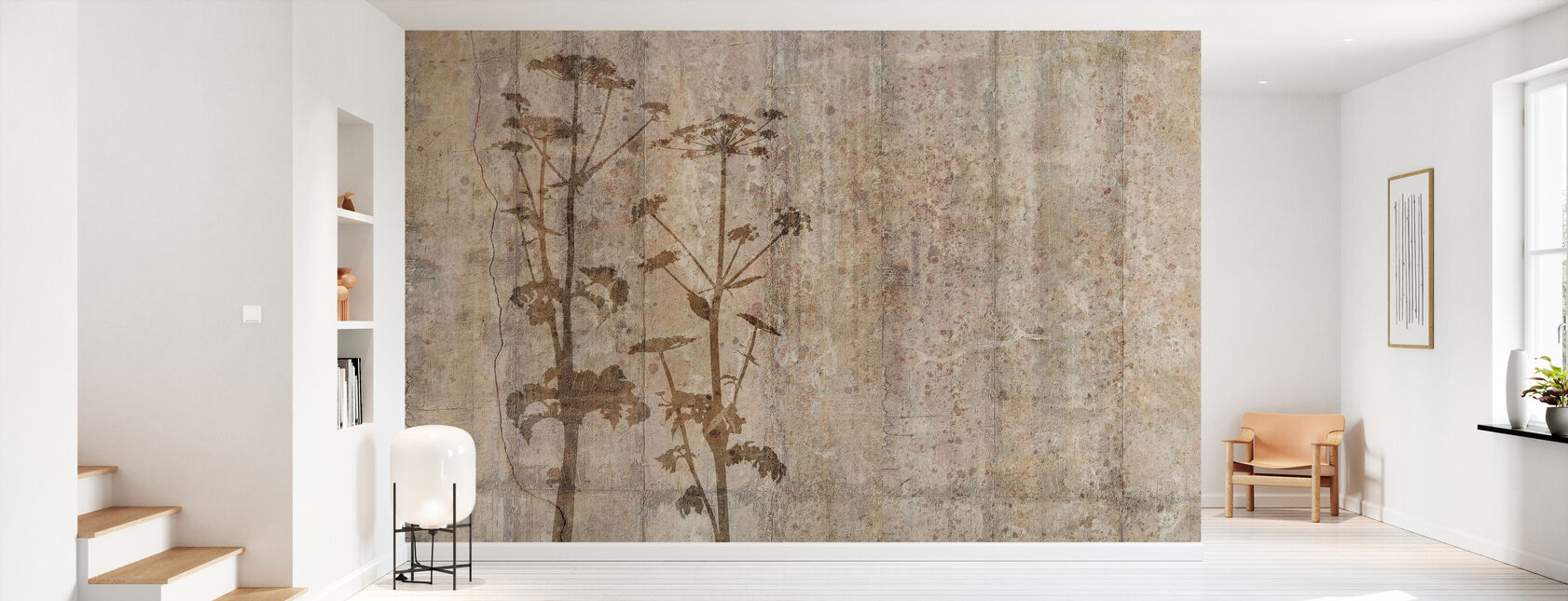 Giant Hogweed with Concrete Wall - Wallpaper - Hallway