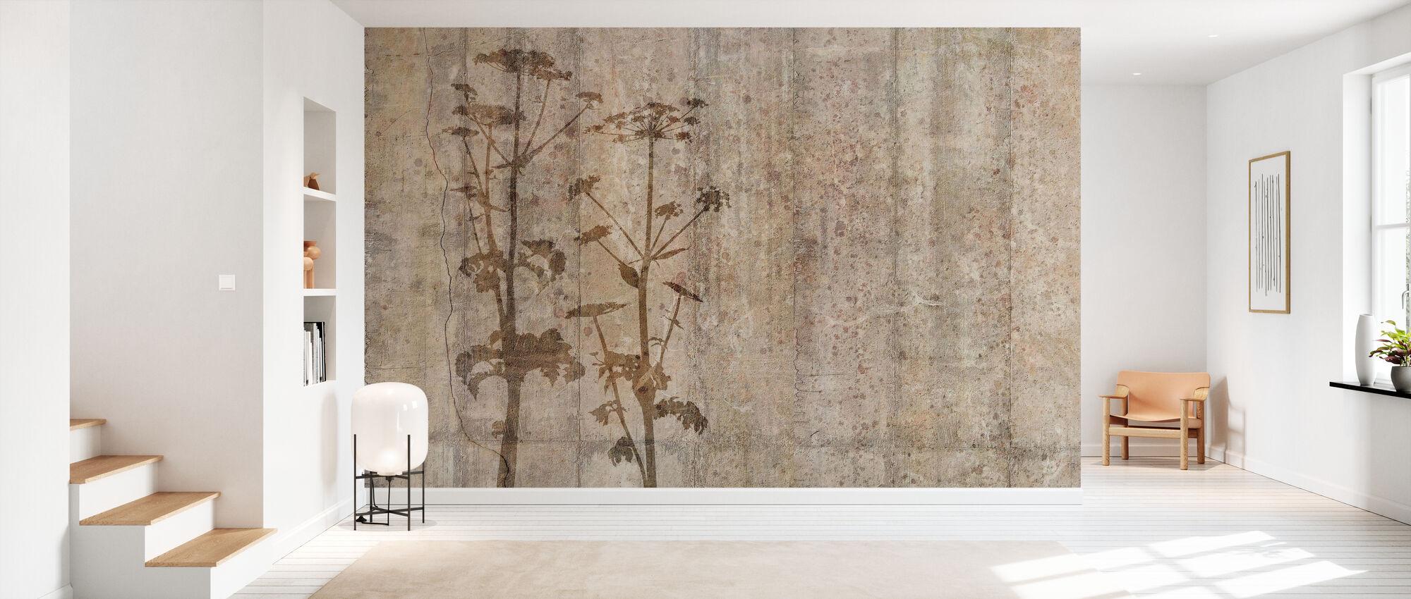 Riesen-Hogweed mit Betonwand - Tapete - Flur