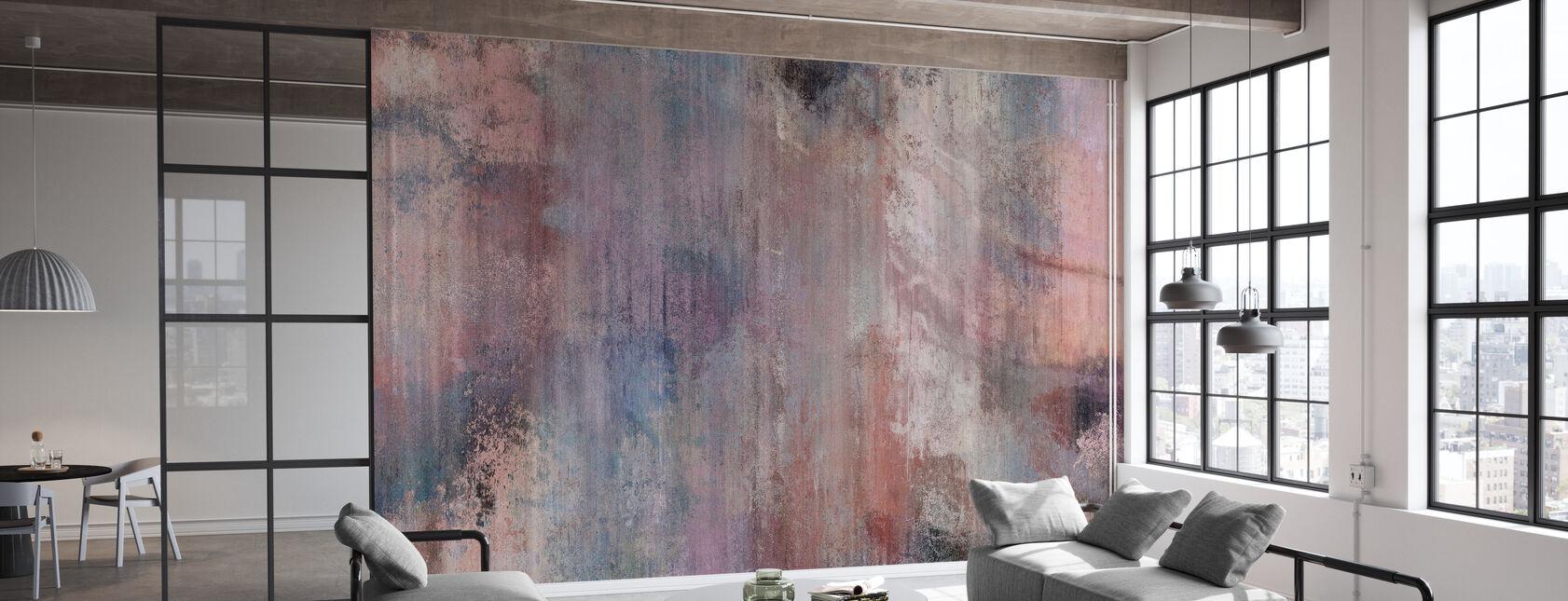 Pinkish Grey Wall - Wallpaper - Office