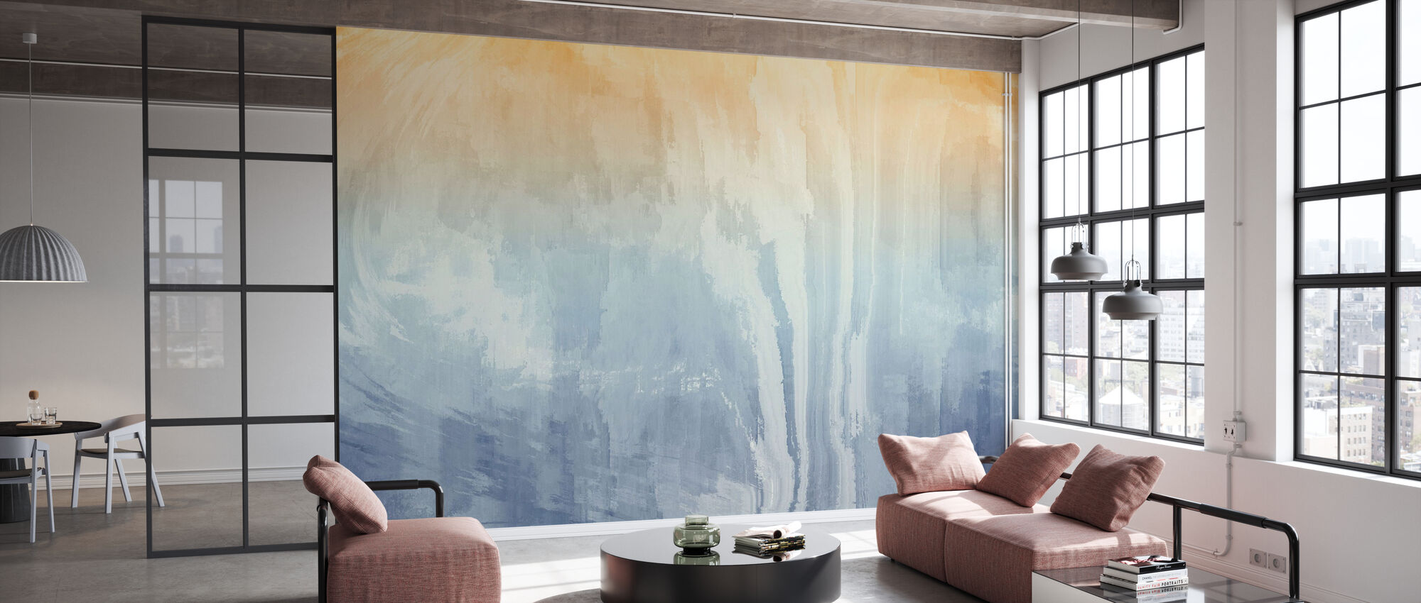 Rough Watercolors - Wallpaper - Office