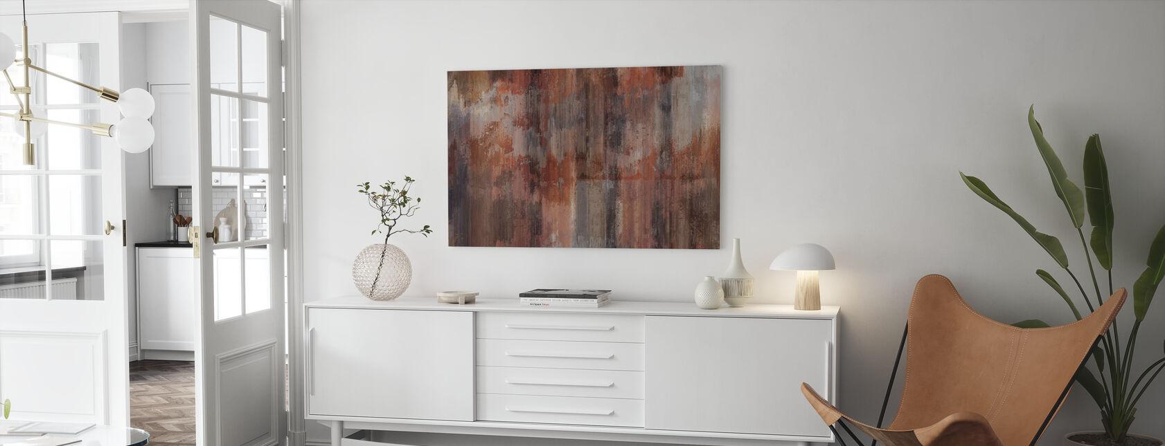 Rusten metall vegg - Lerretsbilde - Stue
