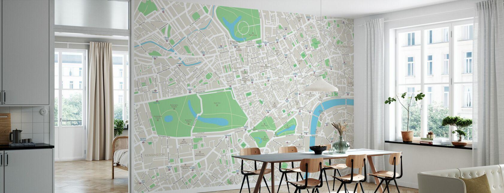 Mappa Londra - Carta da parati - Cucina