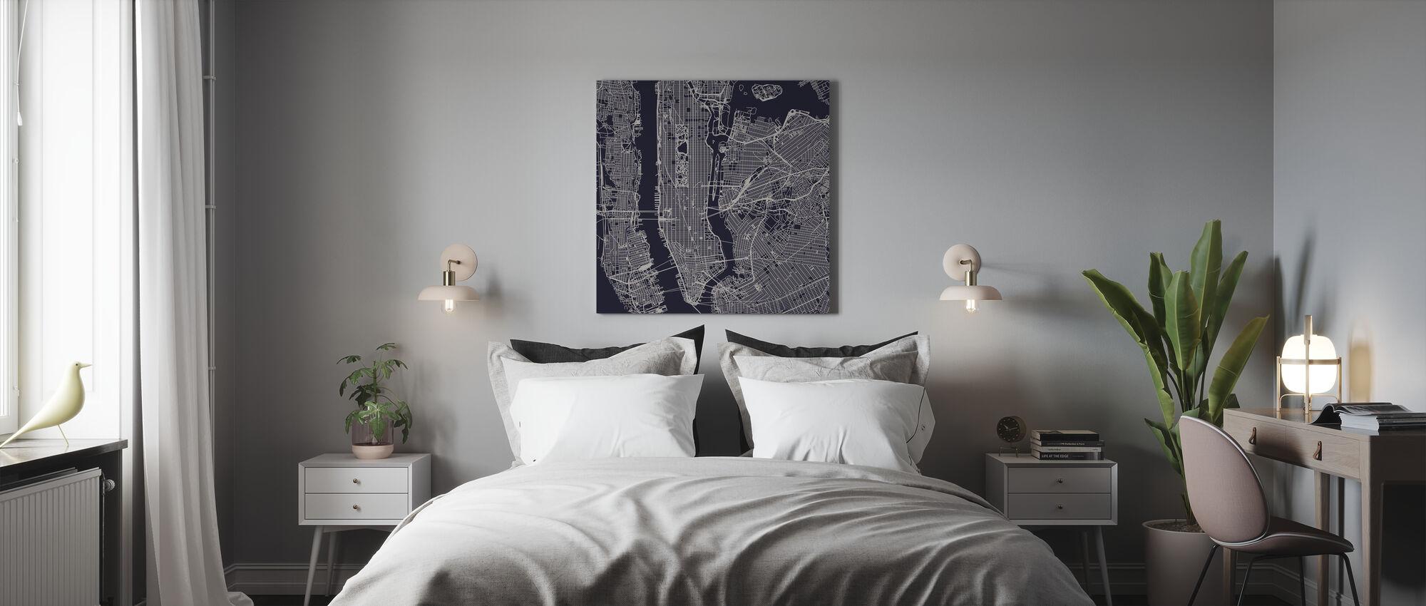 New York City Map - Canvas print - Bedroom