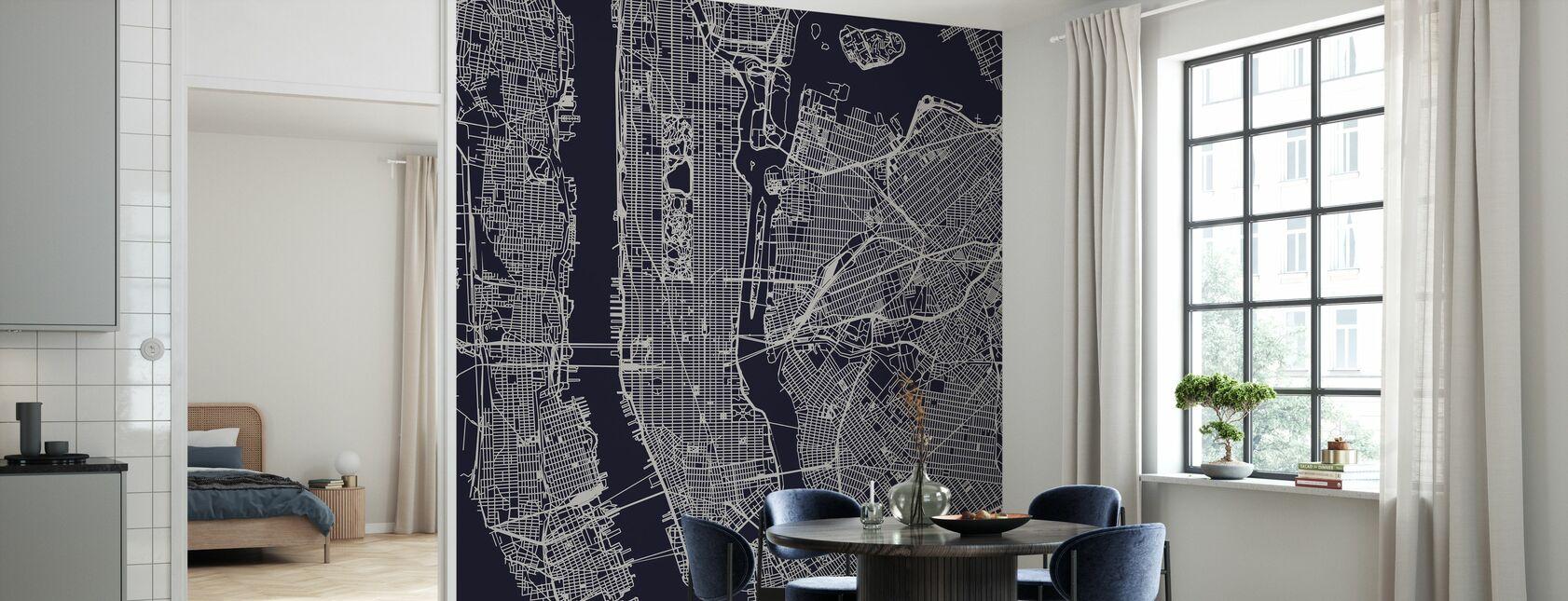 New York Kartta - Tapetti - Keittiö