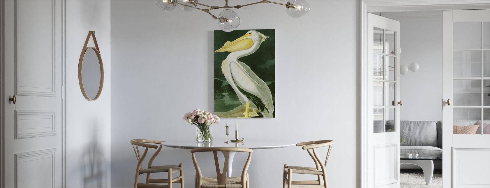 White Pelican - John James Audubon - Canvas print - Kitchen