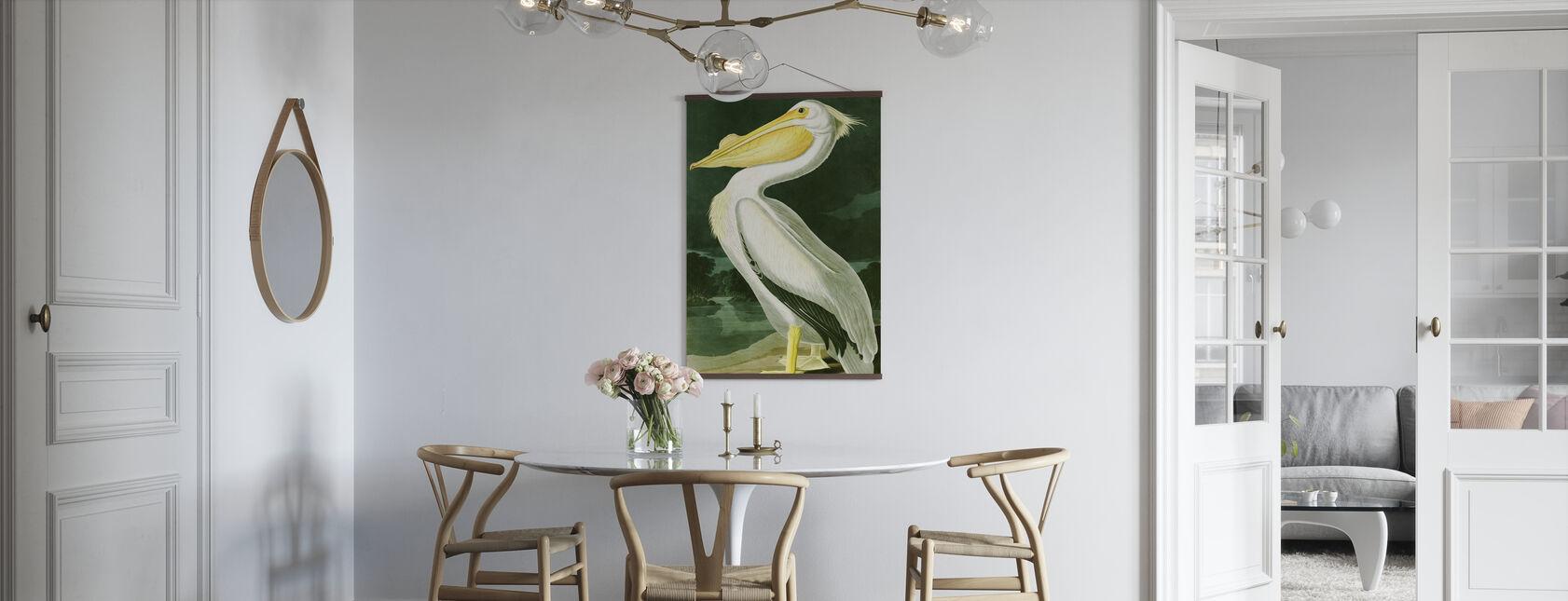 White Pelican - John James Audubon - Poster - Kitchen