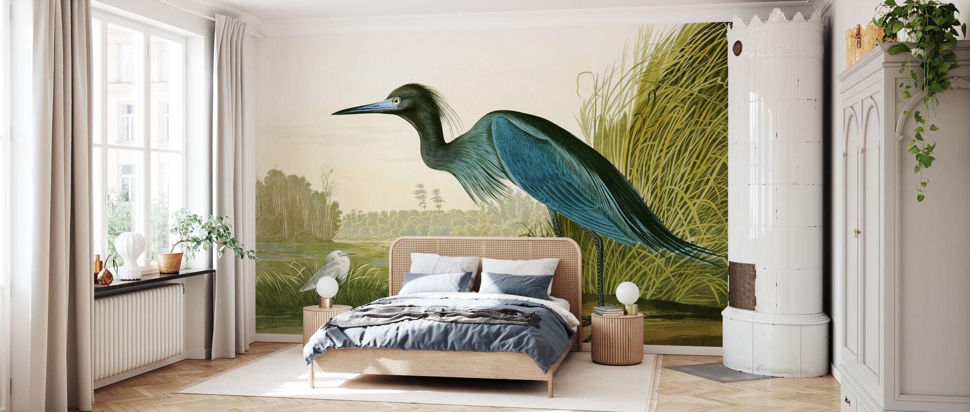 Little Blue Heron - John James Audubon - Wallpaper - Bedroom