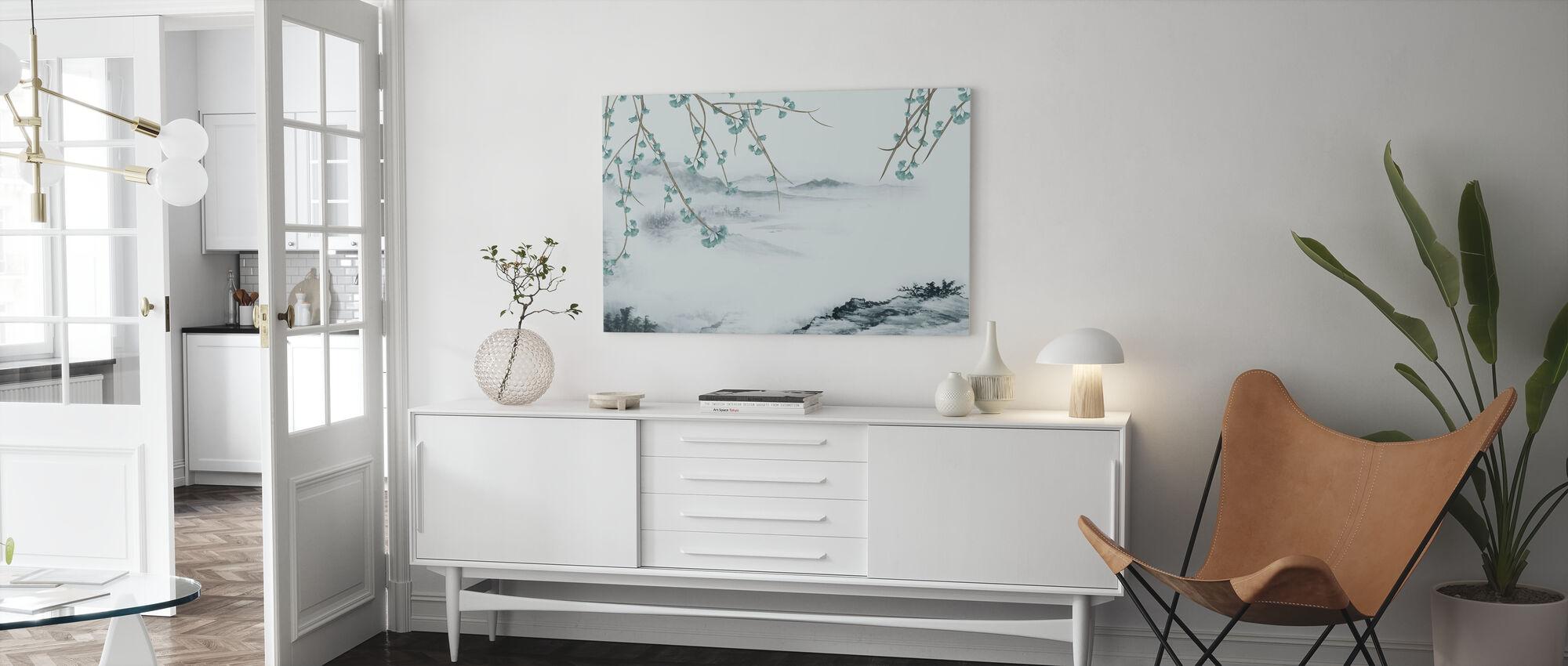 Kinesiskt landskap - Canvastavla - Vardagsrum