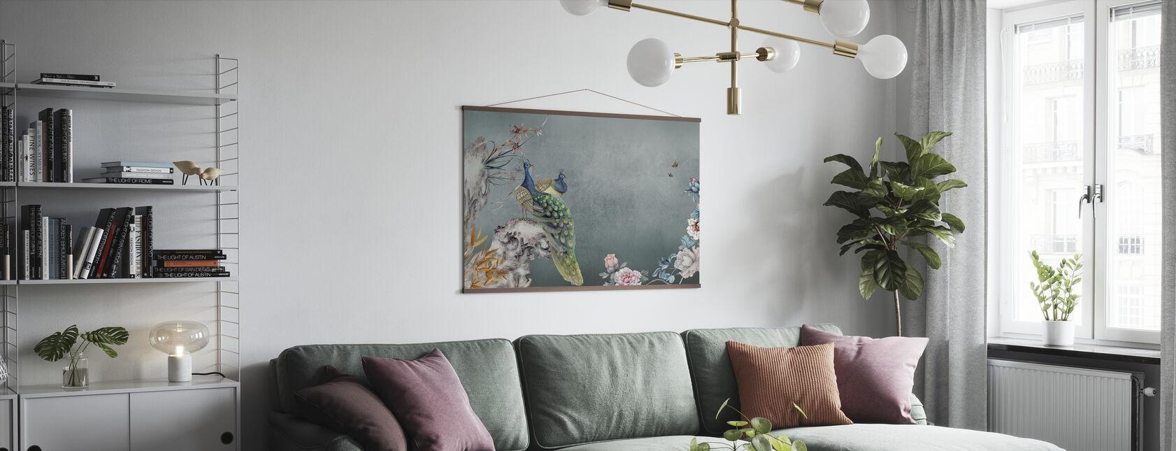 Peacock Mentelle - Poster - Living Room