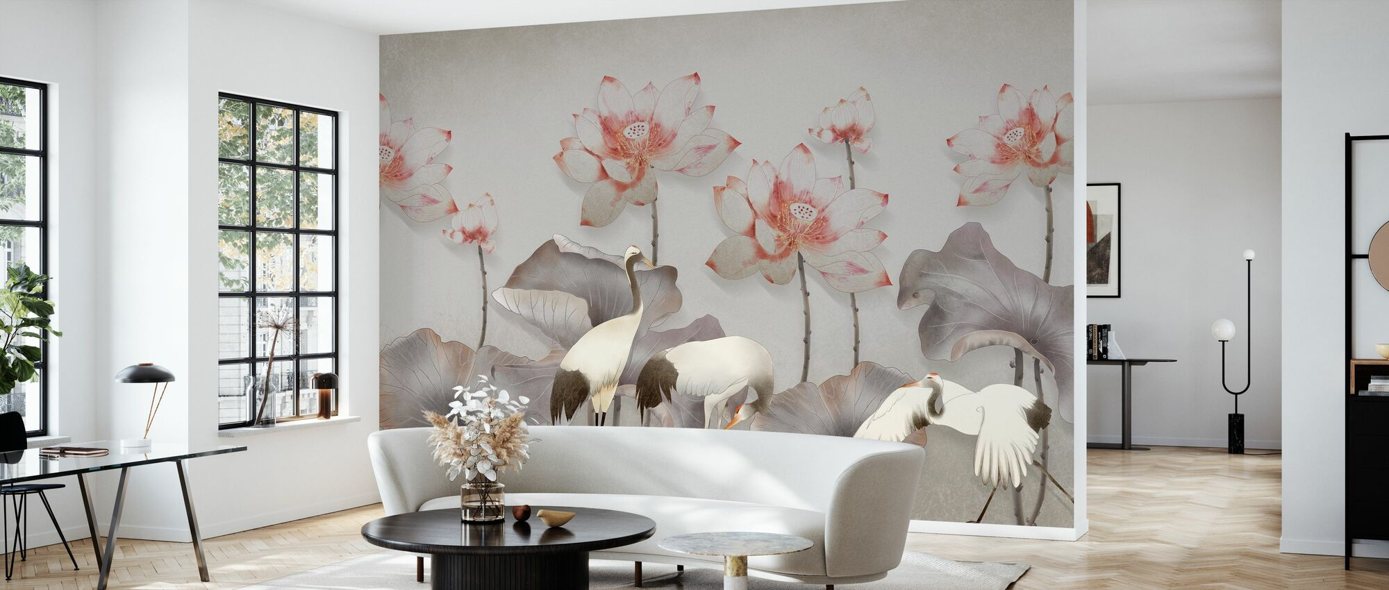 Birds and greenery - Wallpaper - Living Room