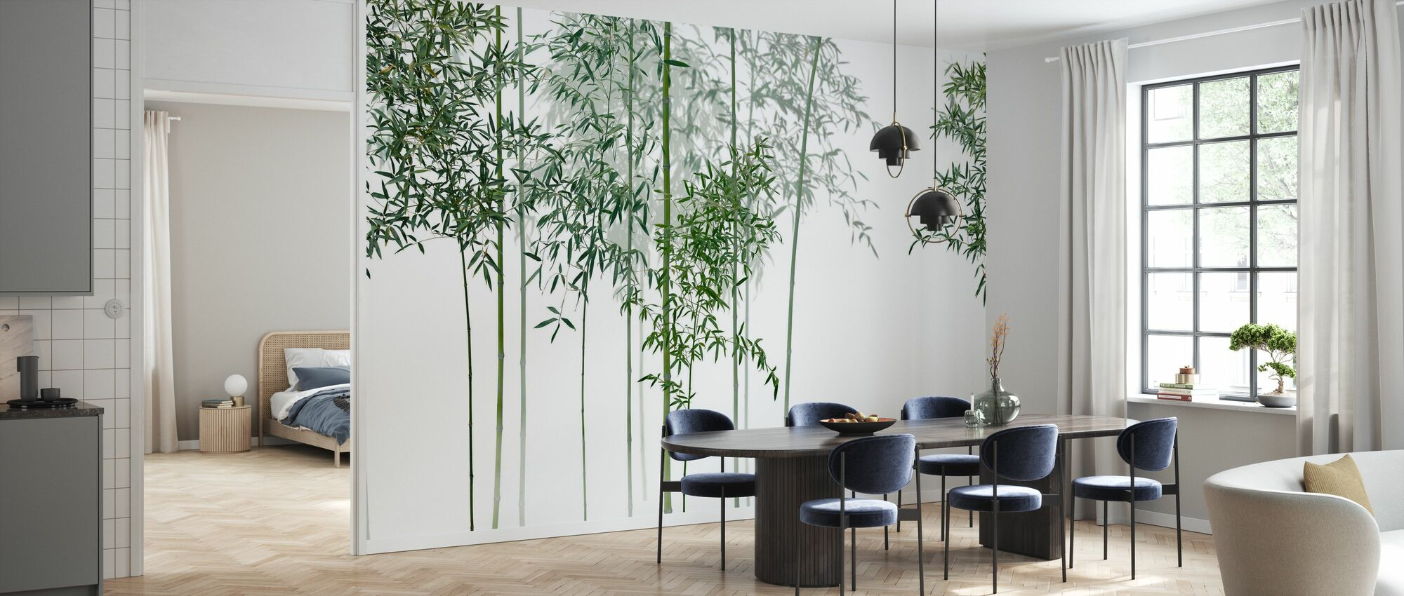 Bamboo Trees View - Wallpaper - Kitchen