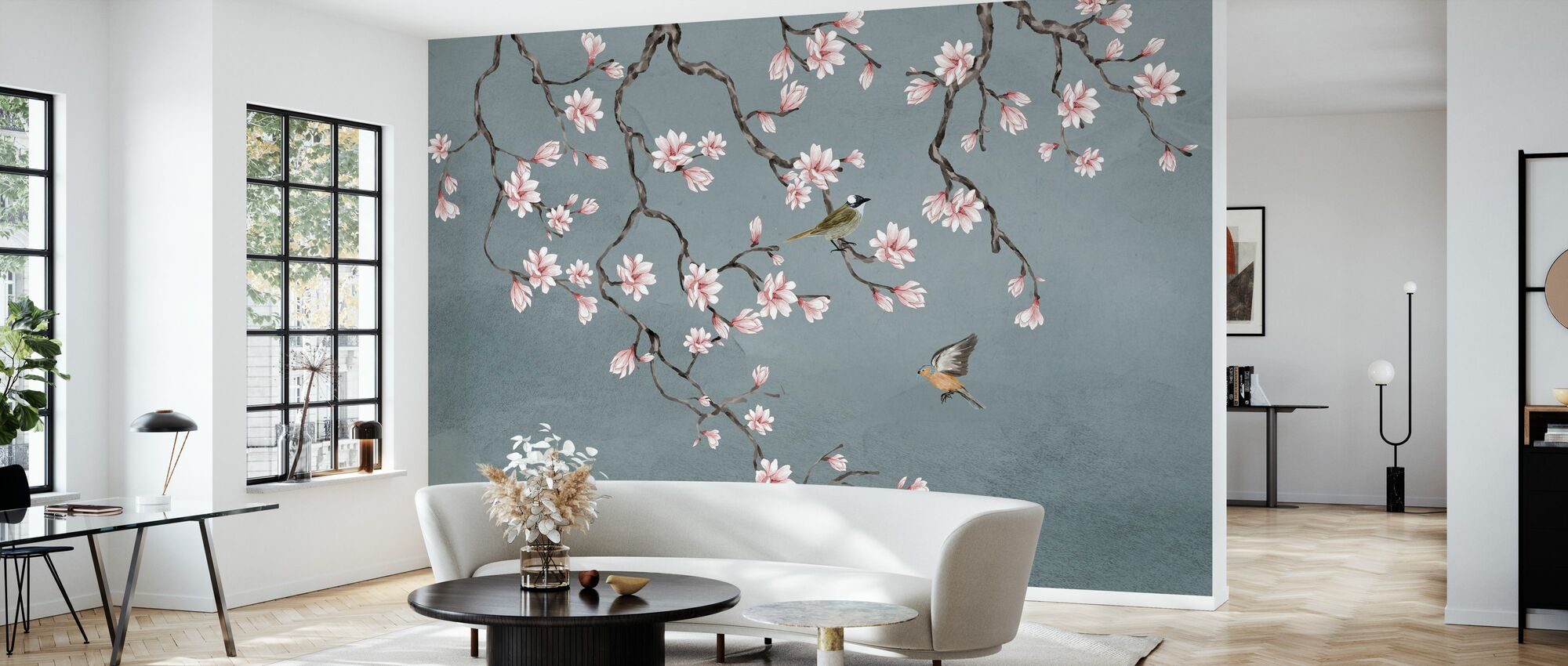 Birds Meeting Place - Wallpaper - Living Room