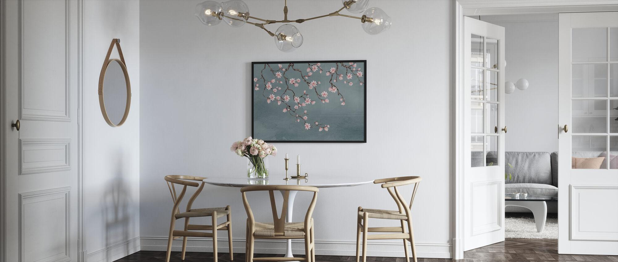 Floraison-takken - Ingelijste print - Keuken
