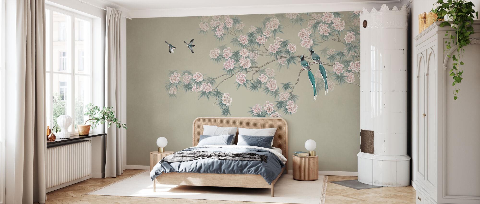 Bird Branch - Hazel - Wallpaper - Bedroom