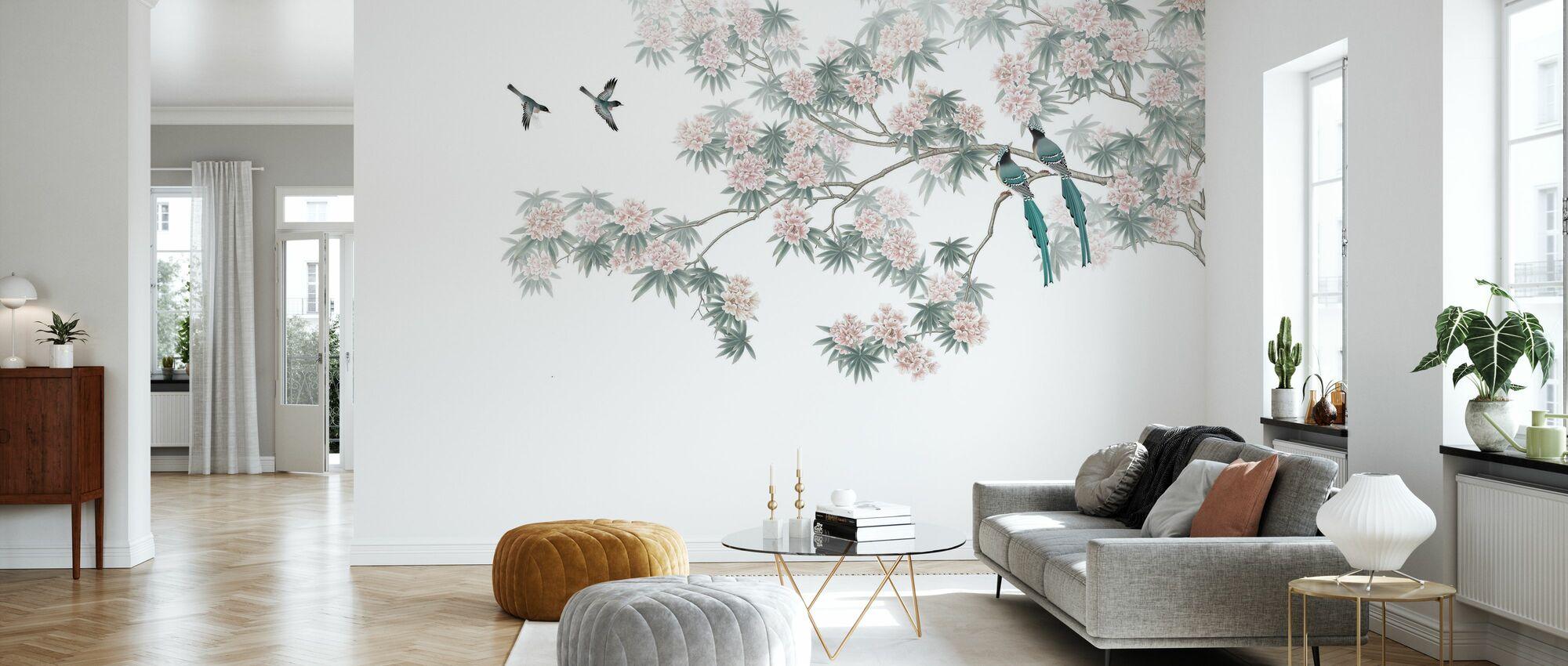 Bird Branch - Wallpaper - Living Room