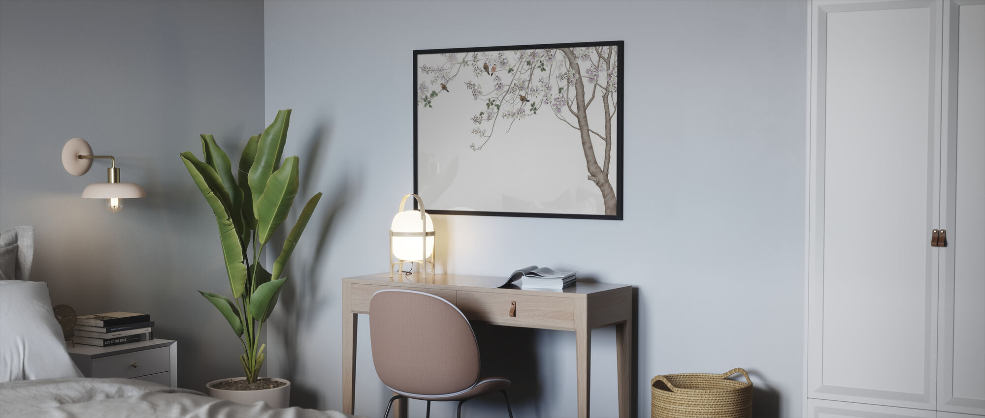 Bird Tree - Framed print - Bedroom