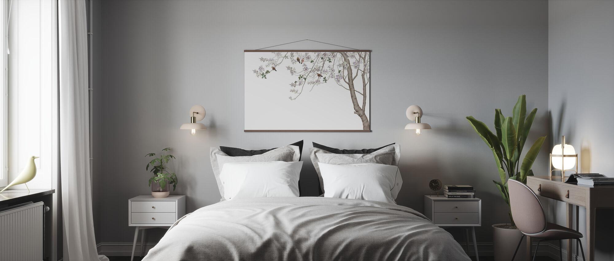 Fågel Träd - Poster - Sovrum