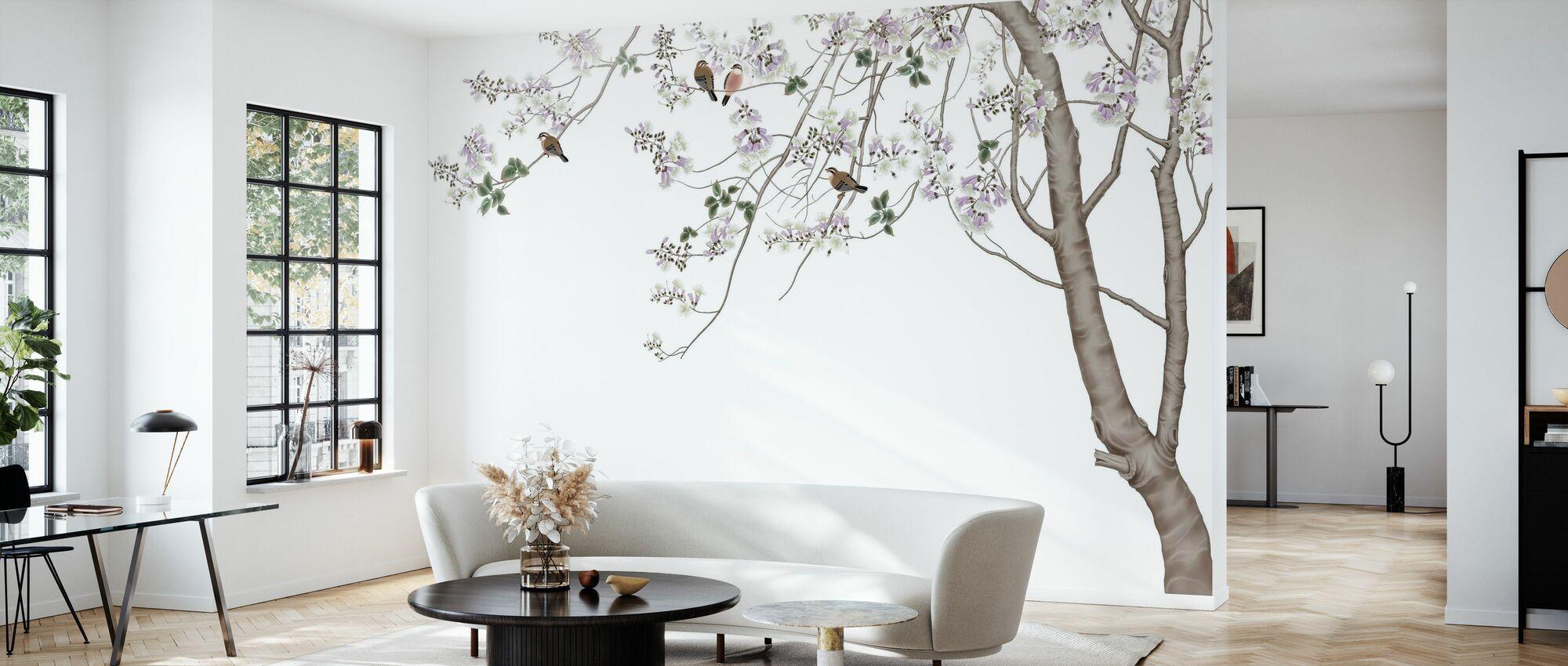 Bird Tree - Wallpaper - Living Room