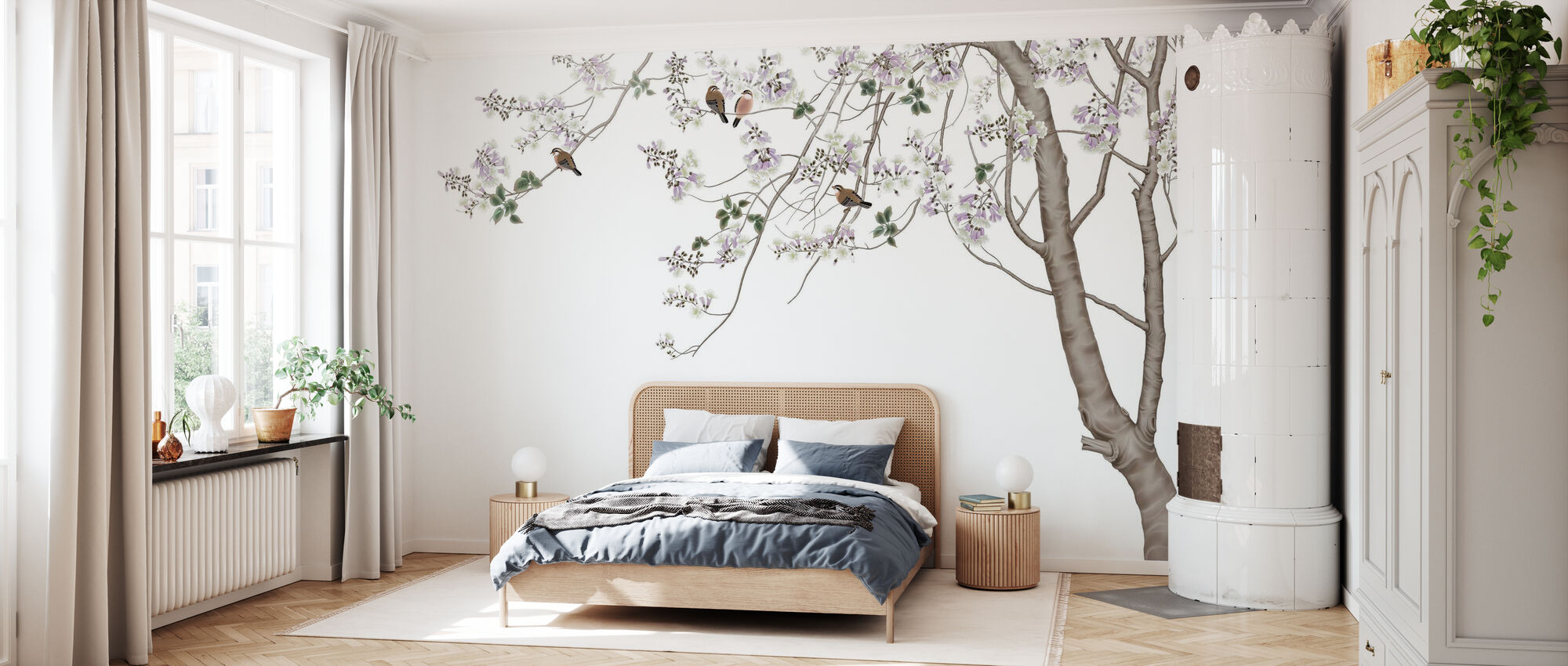 Bird Tree - Wallpaper - Bedroom