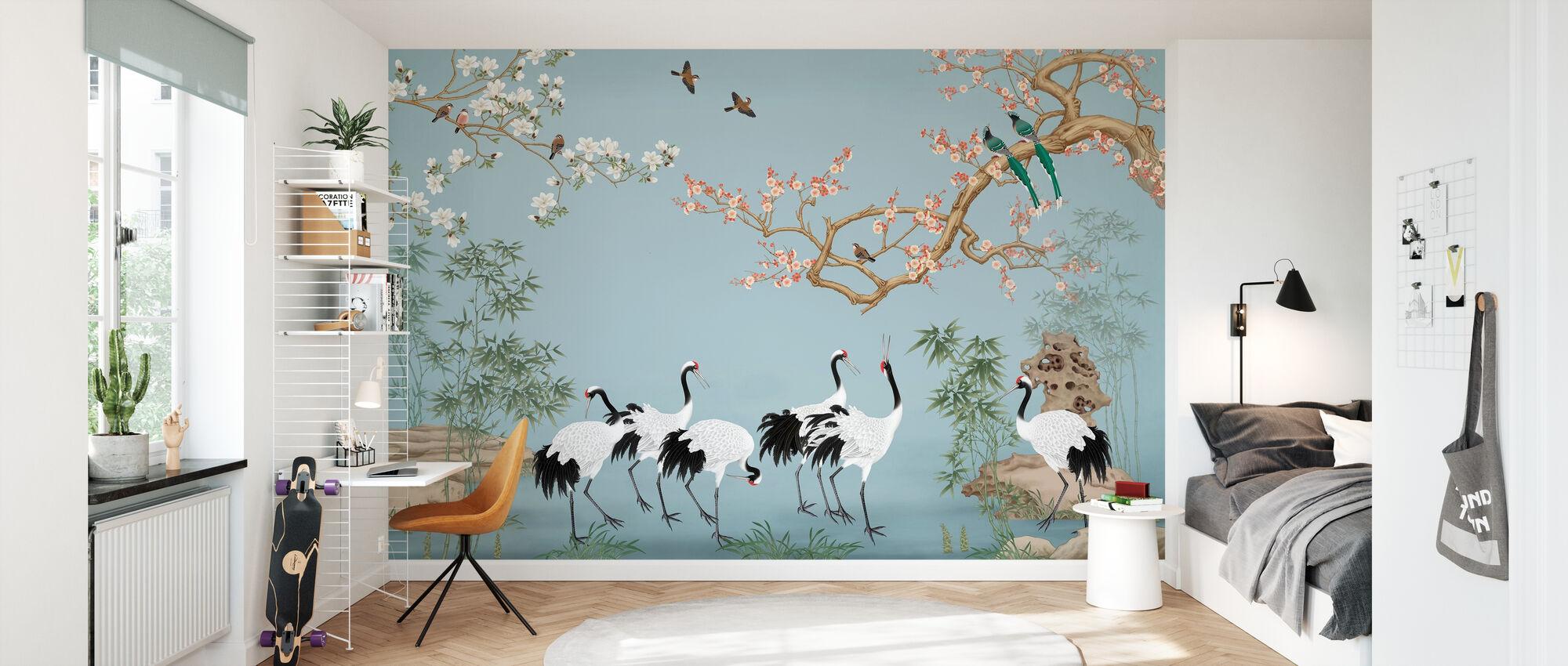 Stomping Ground - Azure - Wallpaper - Kids Room