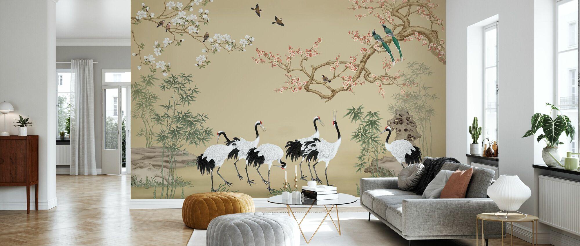 Stomping Ground - Sand - Wallpaper - Living Room