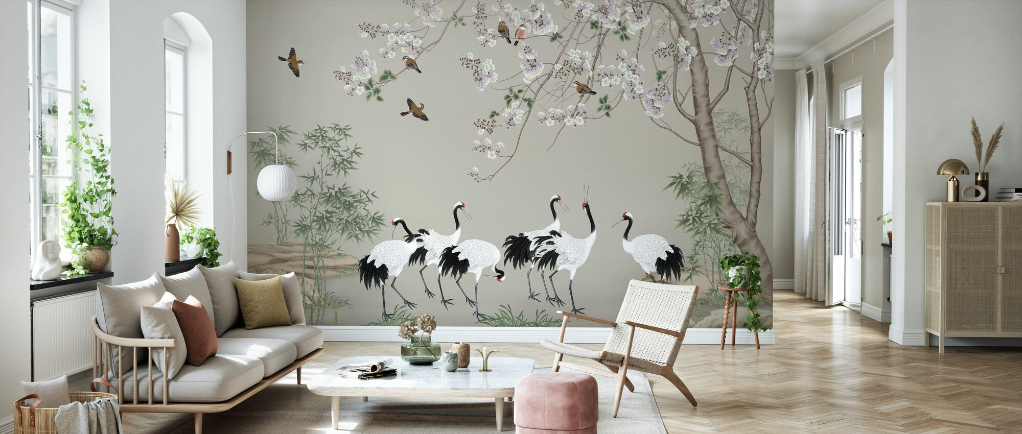 Onder de Vogelboom - Behang - Woonkamer