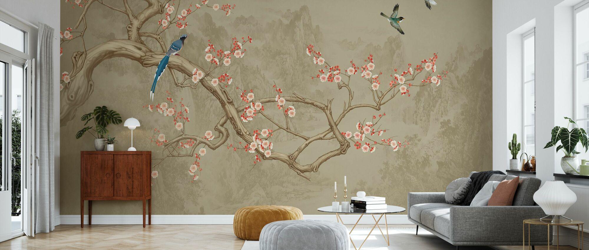 Birds heights - Cocoa - Wallpaper - Living Room