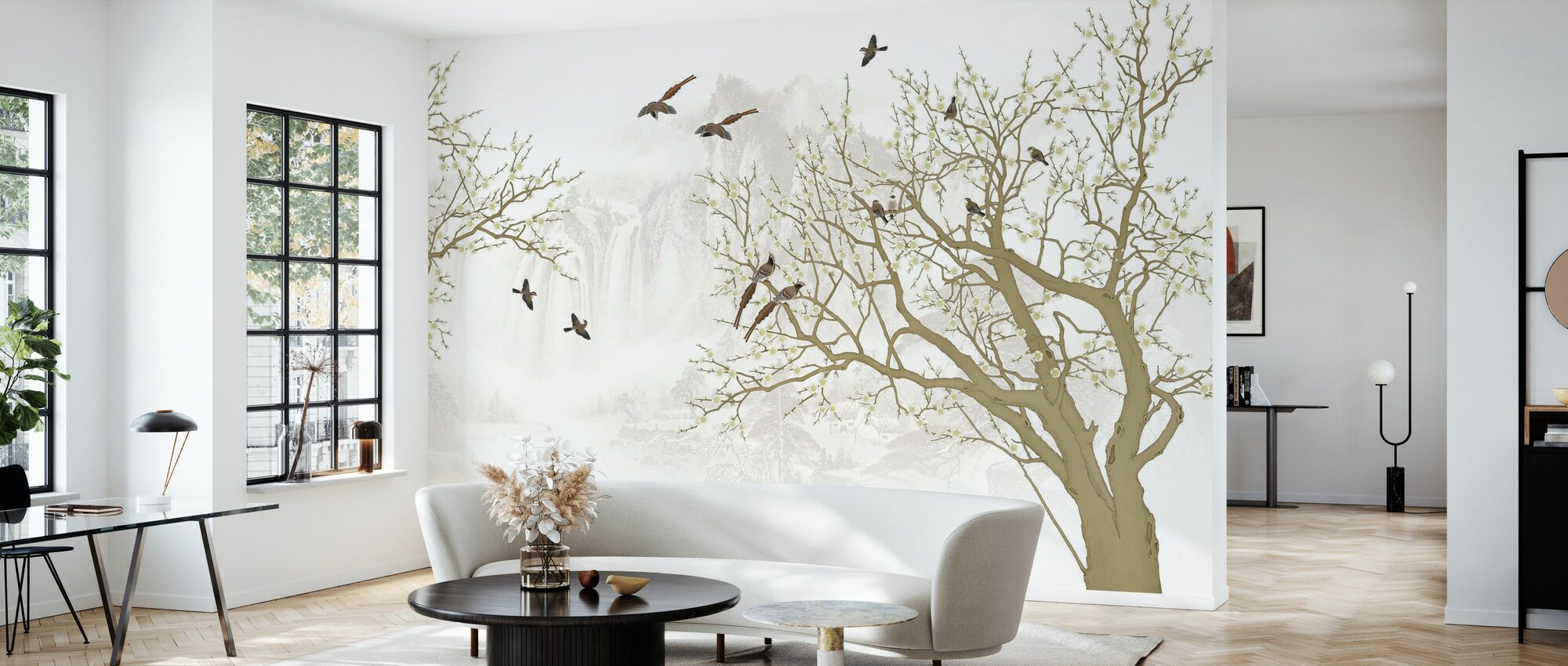Fåglar Hem - Tapet - Vardagsrum