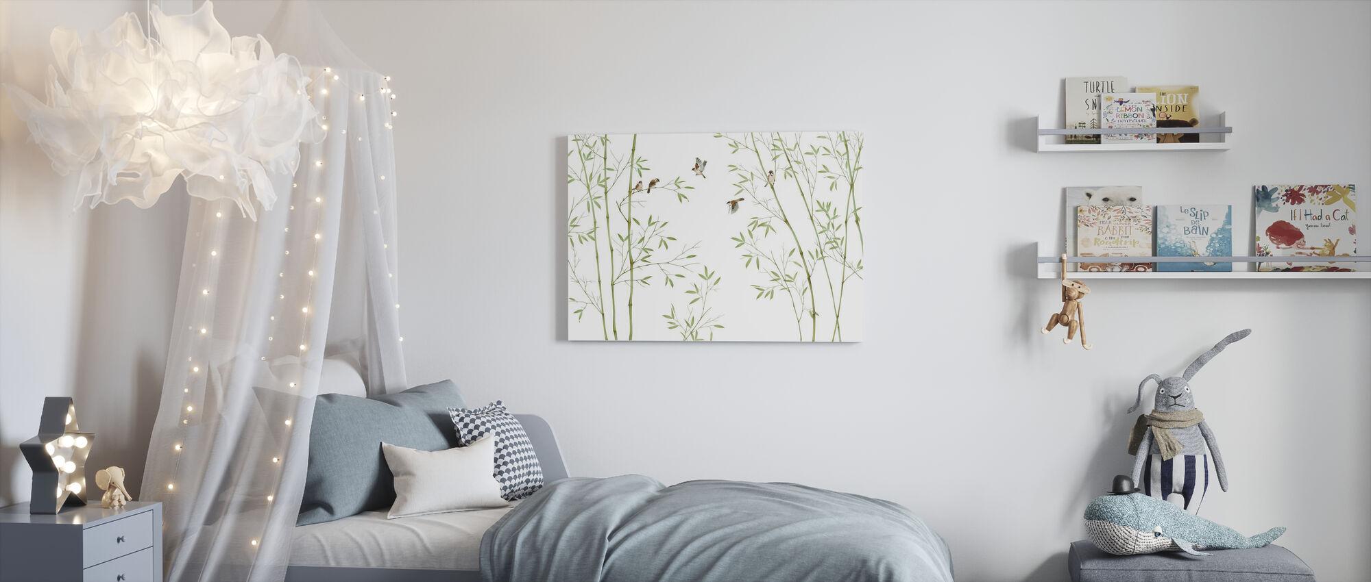 Bamboe Vogels - Canvas print - Kinderkamer