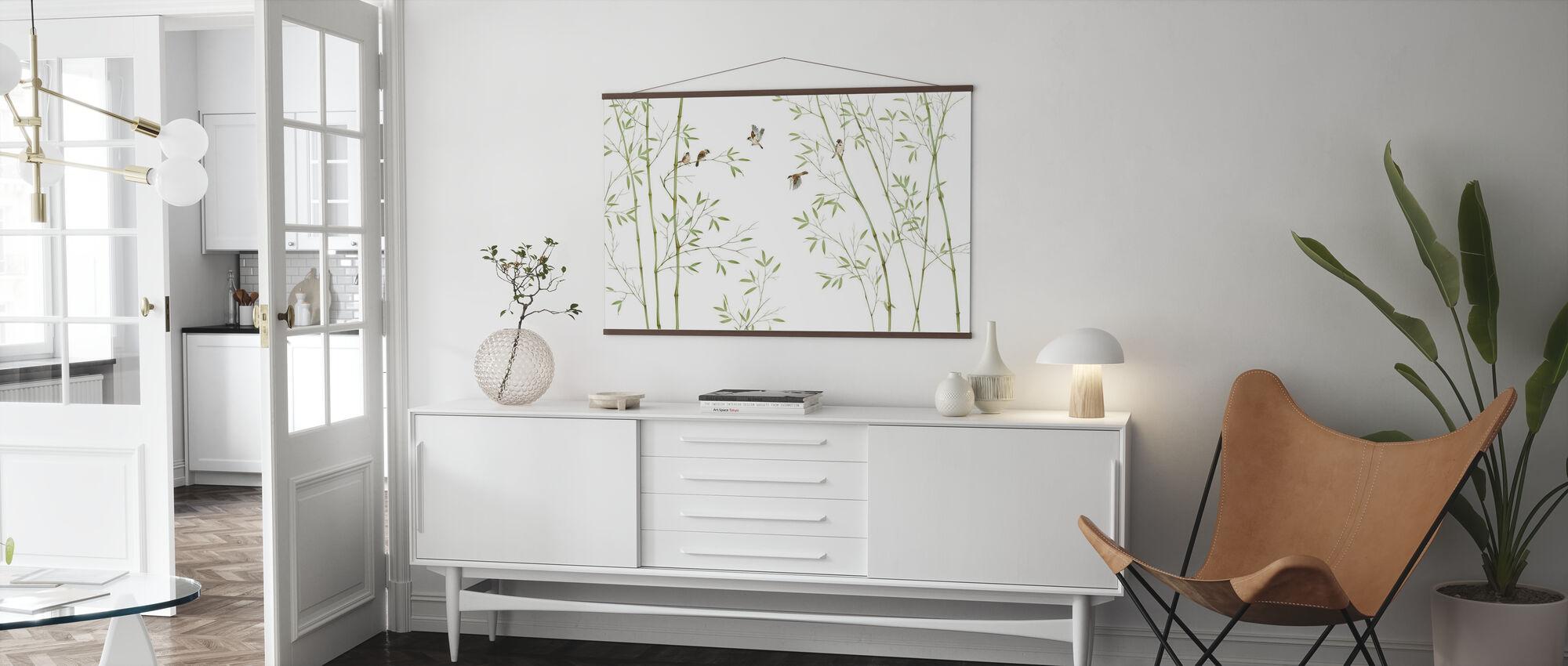 Bamboe Vogels - Poster - Woonkamer