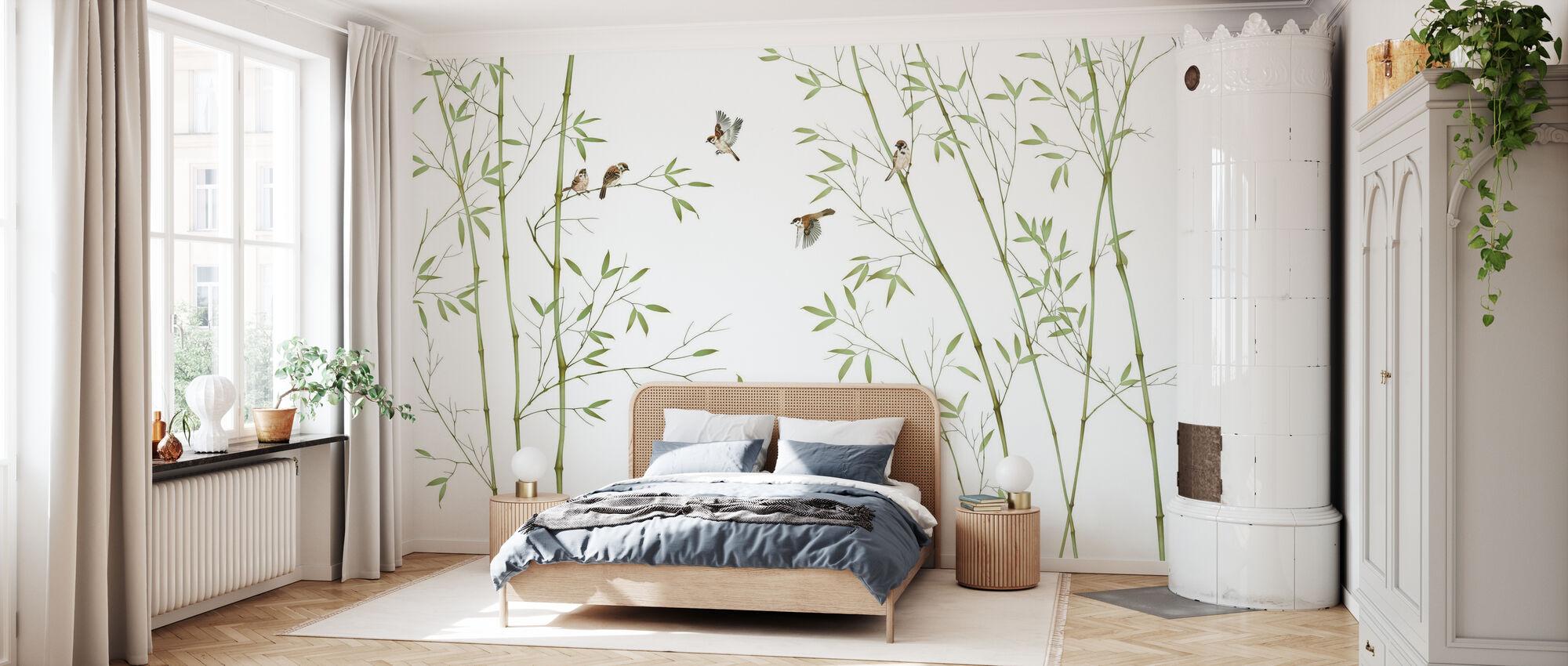Oiseaux de bambou - Papier peint - Chambre