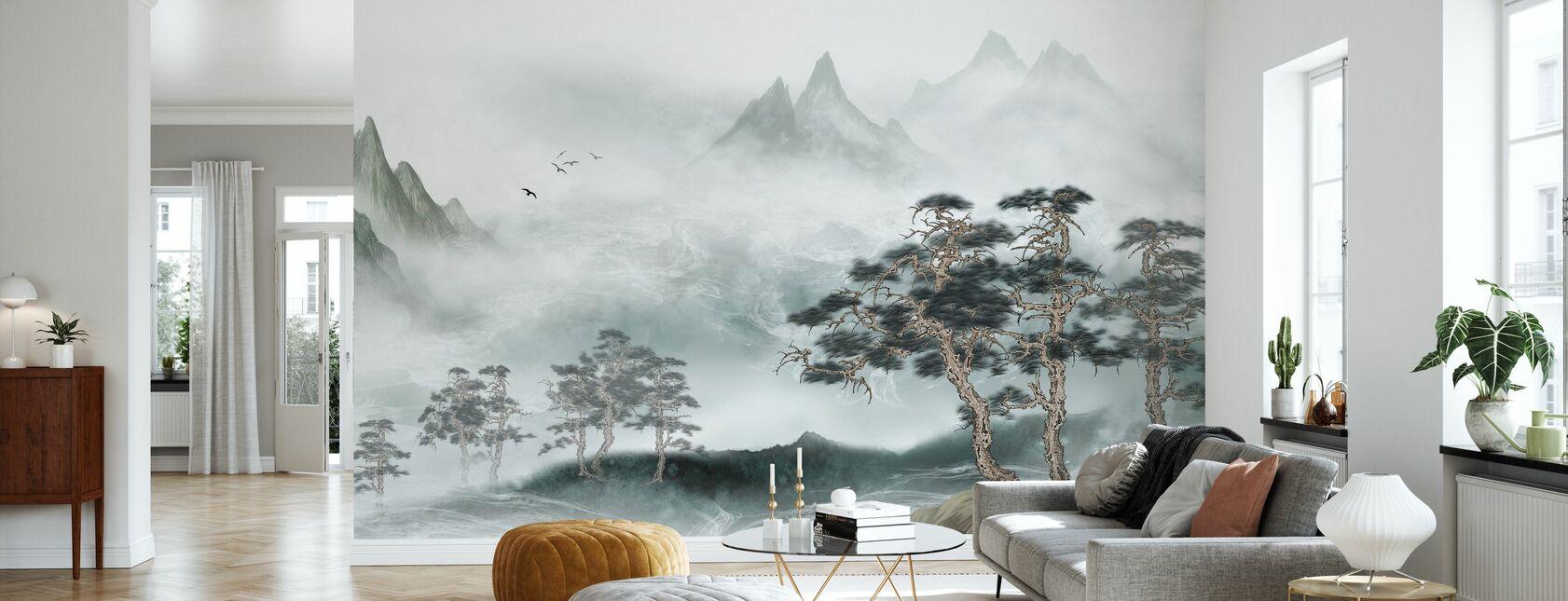 Dimmiga landskap - Tapet - Vardagsrum