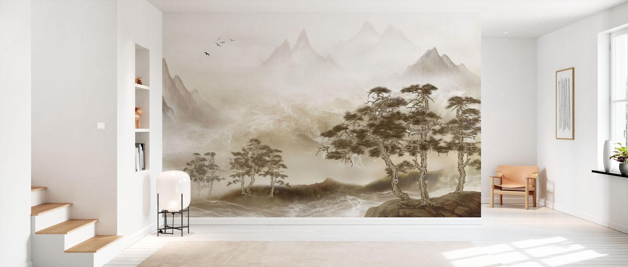 Zen-landschap - Behang - Gang