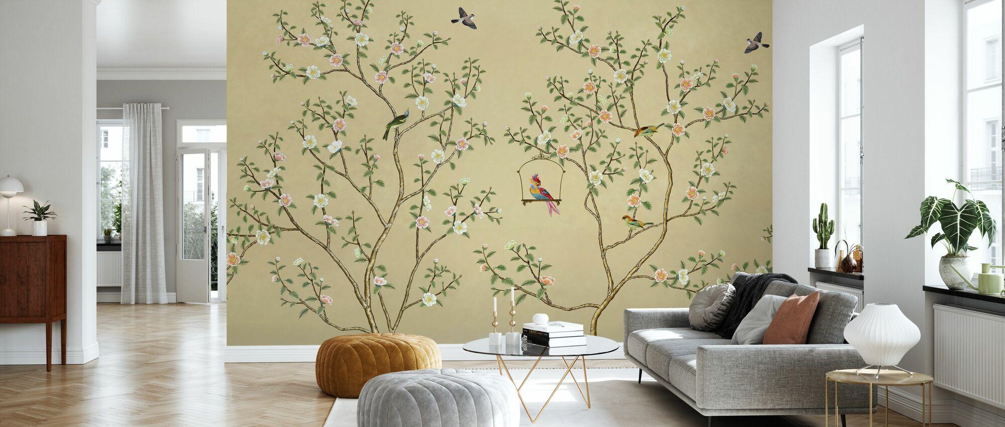 Birds Hangout - Hazel - Wallpaper - Living Room