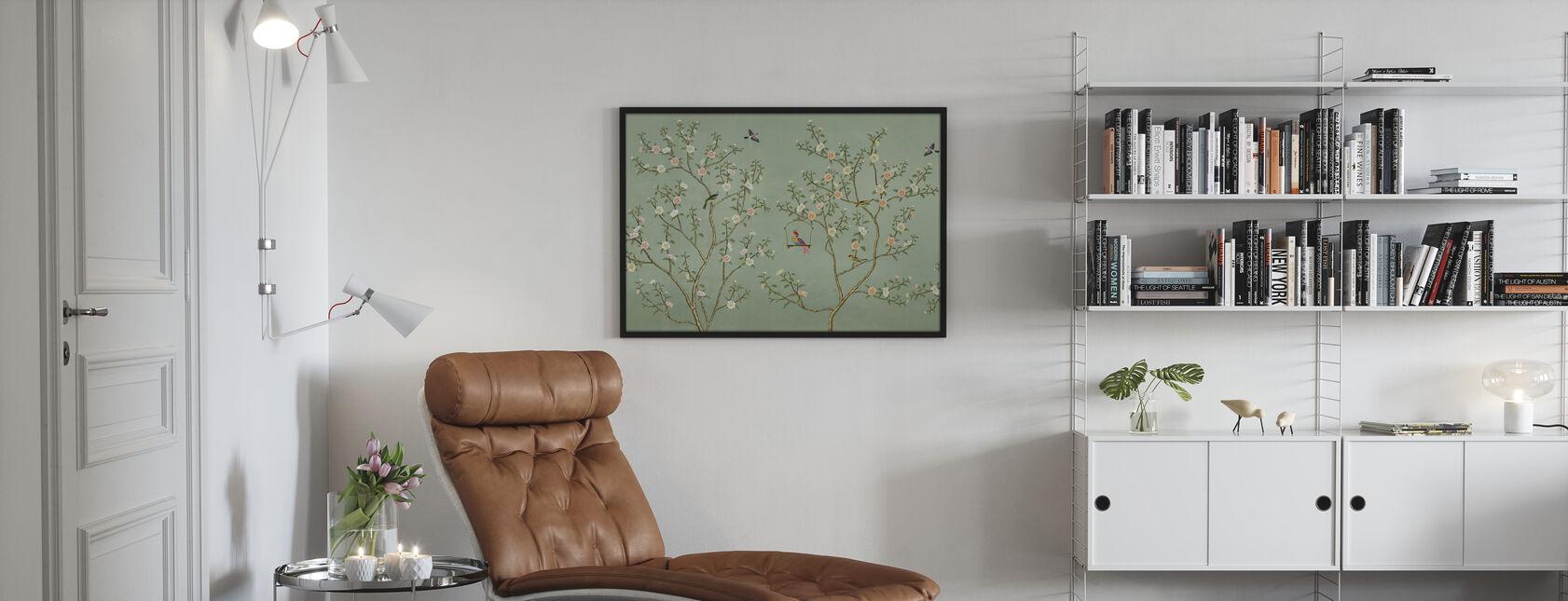 New Chinoiserie - Emerald - Framed print - Living Room