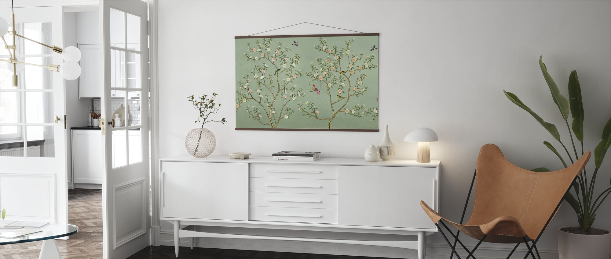 New Chinoiserie - Emerald - Poster - Living Room