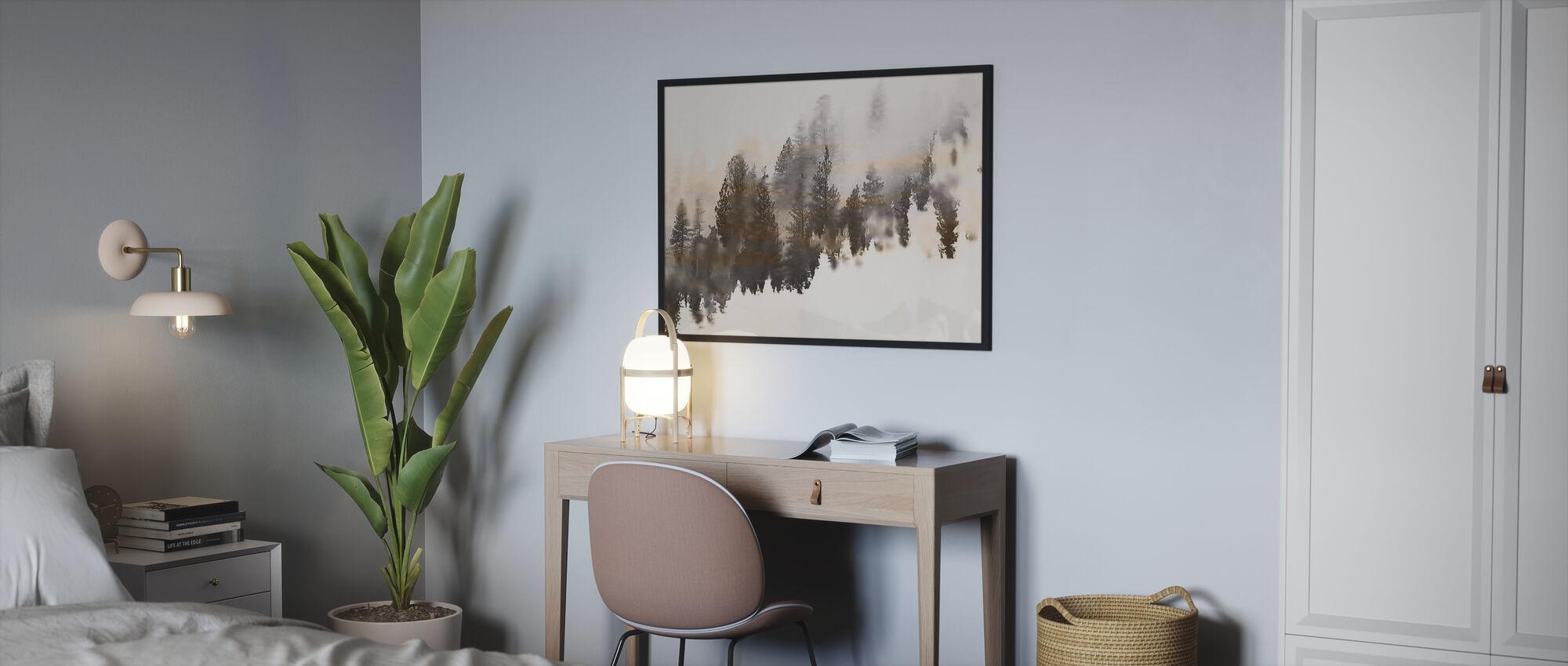 Forresty - Ingelijste print - Slaapkamer