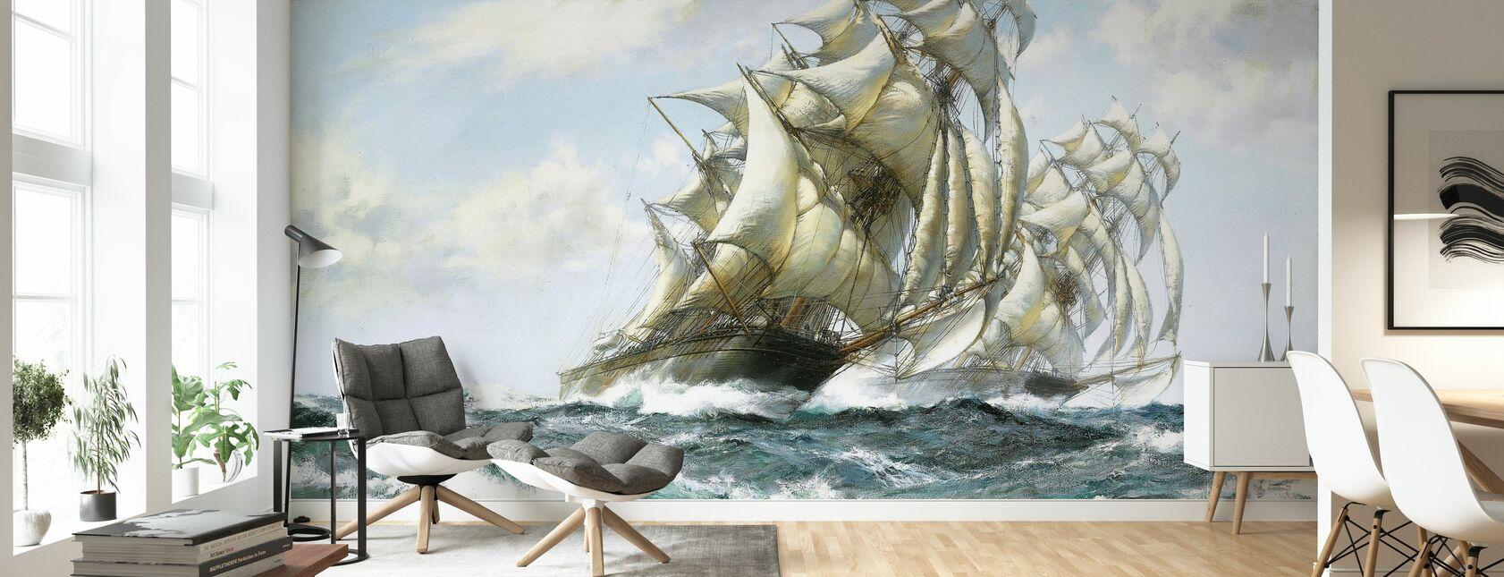 Turbulent navigation - Tapet - Stue