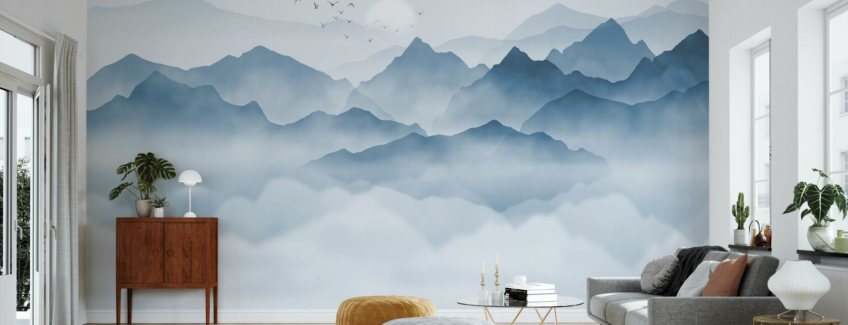 Mountainous - Wallpaper - Living Room