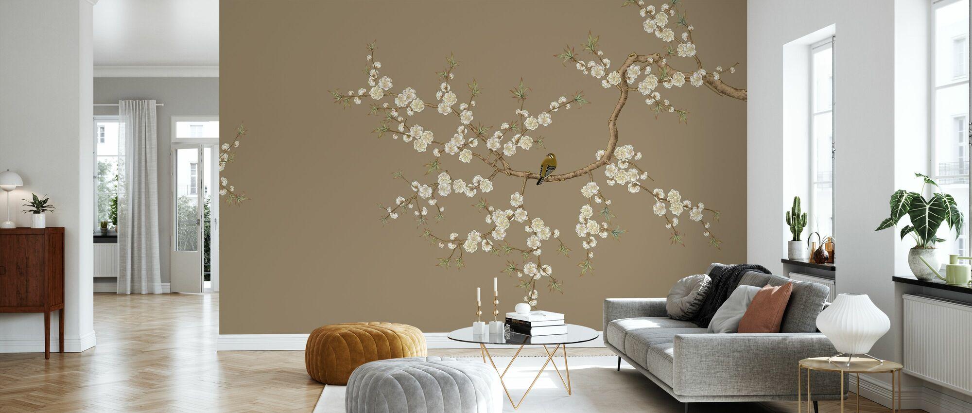 Brushwood -Hazel - Wallpaper - Living Room