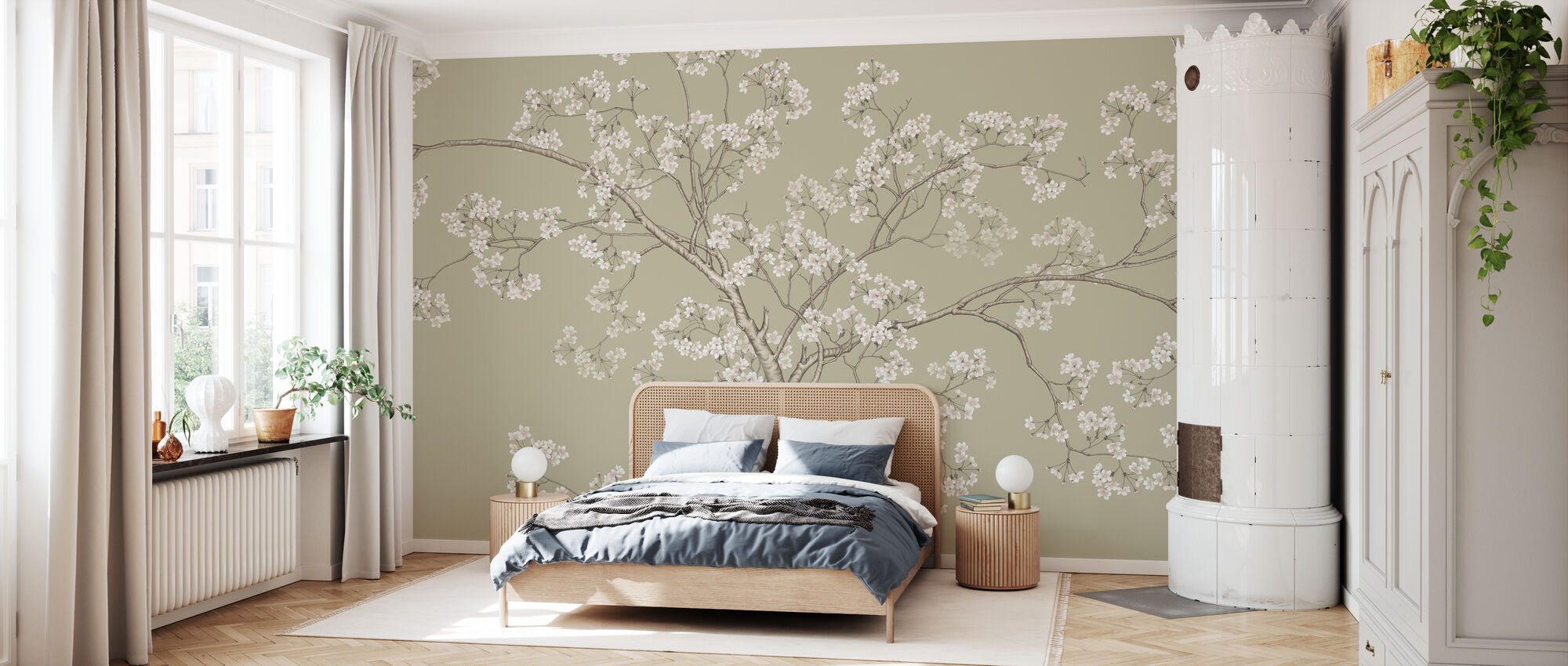 The Tree - Fawn - Wallpaper - Bedroom